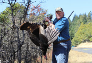 Columbian outdoors reporter Terry Otto took this mature Tom turkey recently in the first ever genera