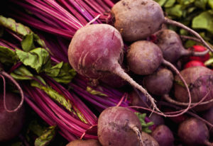 Beets at the farmers market.