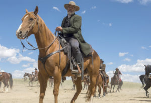"""Jeff Daniels, right, and his mighty """"Godless"""" co-star Apollo. Ursula Coyote/Netflix"""