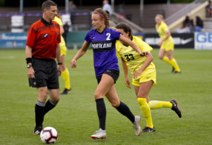 Ridgefield High grad Taryn Ries has scored 15 goals this season and leads the West Coast Conference.
