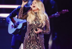 Carrie Underwood performs at the 2018 CMT Artists of the Year show.