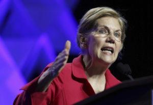 Sen. Elizabeth Warren, D-Mass., speaks at the 2018 Massachusetts Democratic Party Convention in Worc