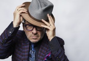 """Elvis Costello poses for a portrait on Sept. 17 in New York to promote his latest release """"Look Now."""