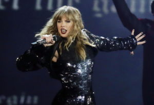 """Taylor Swift performs during her """"Reputation Stadium Tour"""" opener in Glendale, Ariz. Swift will open"""