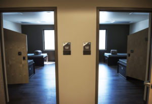 Patient rooms are seen at Rainier Springs behavioral health hospital. The aura the hospital wants to