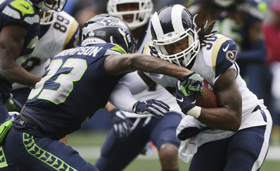 Gurley's 3 TDs keep Rams ideal in 33-31 win over Seahawks