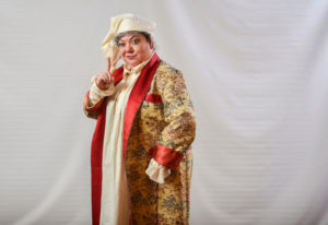 Don't you dare! Scrooge is portrayed by Thelma, who is portrayed by Vancouver's Kimberly Dewey, in w