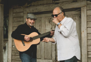 Guitarist Alan Hager, left, and singer Curtis Salgado will perform a stripped-down, acoustic set dur
