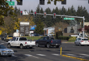 Motorists run through a red light at the intersection of Southeast Mill Plain Boulevard and Chkalov