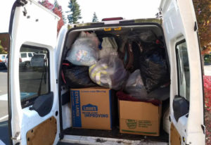 Clark County: The donation van was filled twice by employees and clients of Berkshire Hathaway HomeS