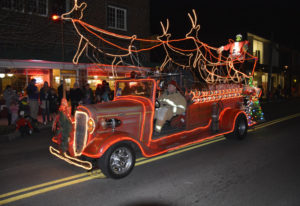 It's not just trees that get lit up at Washougal's annual holiday parade. Contributed photo