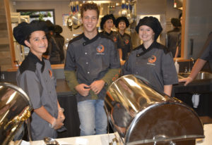 Washougal: Zachariah Schroeder, from left, Michael Gonser and Paige Limbo with Washougal High School