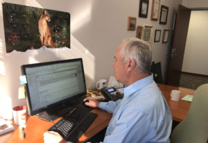 Marc Boldt works in his office. Lou Brancaccio