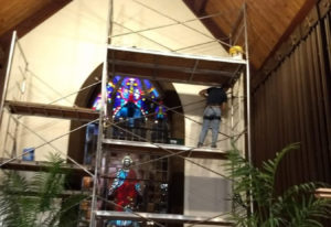 Esther Short: Volunteers from various churches and community groups helped paint the sanctuary at St
