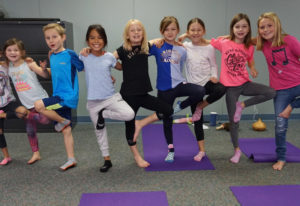 Ridgefield: Kids in Kristen Matthews' yoga class for kids, offered through Ridgefield School Distric