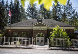 The original brick building from 1932 still houses four classes at Green Mountain School, a K-8 scho