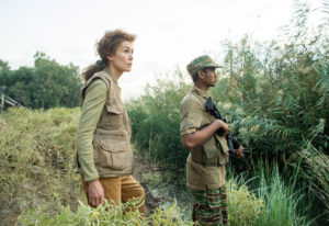 "Rosamund Pike conveys Marie Colvin's desires to make war's ""suffering part of the record,"" as well a"
