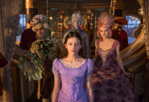 Mackenzie Foy is Clara, Keira Knightley is Sugar Plum Fairy, Eugenio Derbez is Hawthorne and Richard