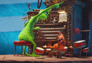 "Benedict Cumberbatch voices the title character in ""Dr. Seuss' The Grinch."" Universal Pictures"