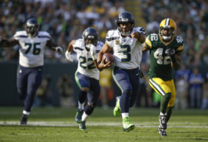 Seattle Seahawks' Russell Wilson has had several big moments against the Green Bay Packers, includin