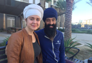 Harisimran Kaur Khalsa, left, and her husband Davindar Singh have formed the Duwara Consciousness Fo