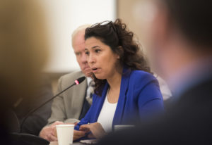 State Rep. Monica Stonier, D-Vancouver, speaks Nov. 7 to the Washington State Board of Education at