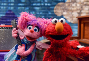Abby Cadabby, left, and Elmo are ready to rock with the return of Sesame Street Records. (Sesame Wor