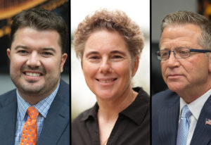 In the 18th Legislative District races, Brandon Vick, left, will retain his seat for Position 1. The