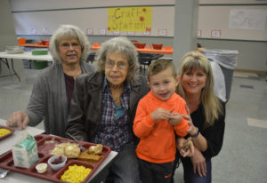 Washougal: Cape Horn-Skye Elementary School student Jamison Douglas was joined at Grandparents Day b