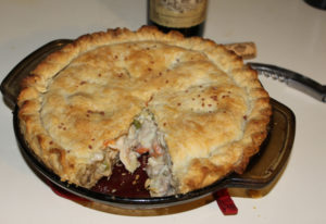 Turkey pot pie is a great way to make use of leftover holiday turkey, whether or not the bird was wi