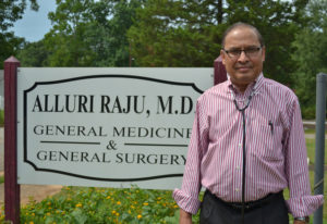 Dr. Alluri Raju, who has been practicing in Richland, Ga., for 37 years, said he initially faced dis