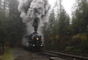 The Headless Horseman Halloween Steam Train is one of the seasonal and holiday train rides offered b