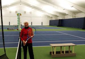 Arlene Clark, 82, at Vancouver Tennis Center on Thursday, Dec. 13, 2018. A fixture on the local tenn