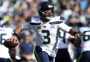 Through 12 games, Seattle Seahawks' Russell Wilson has 29 touchdowns and just five interceptions. He
