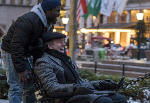 """Kevin Hart, left, and Bryan Cranston in """"The Upside."""" Lantern Entertainment"""
