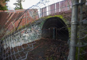 An underground tunnel near Columbia River High School was meant to serve as a link for the Cougar Cr