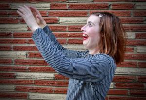 "Writer-performer Anne Zander wears clownlike makeup in ""Juicebox,"" but it's not exactly a clown show"
