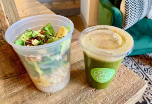 Vancouver FARMacy juice and Bento bowl at Be Well Juice Bar. Rachel Pinsky