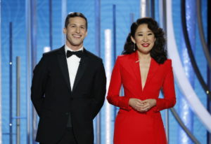 Andy Samberg and Sandra Oh host the 76th annual Golden Globe Awards on Jan. 6 in Beverly Hills, Cali