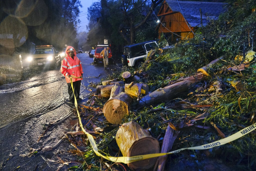 Latest Pacific Ocean storm pounds California with rain, snow