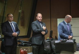 FILE - In this Oct. 30, 2018 file photo, from left, former Detective David March, Chicago Police Off