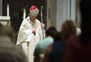 Cardinal Donald Wuerl, Archbishop of Washington, conducts Mass at St. Mathews Cathedral in Washingto