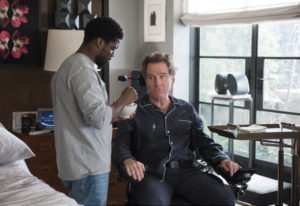 "Kevin Hart, left, and Bryan Cranston in a scene from ""The Upside."" David Lee/STXfilms"