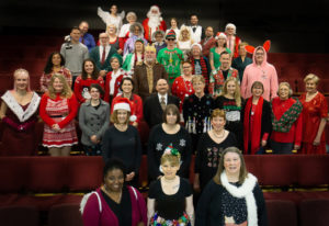 The Magenta Rocks! Christmas Choir performed in December. The theater recently received a grant to r