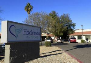 This Friday, Jan. 4, 2019, photo shows Hacienda HealthCare in Phoenix. The revelation that a Phoenix